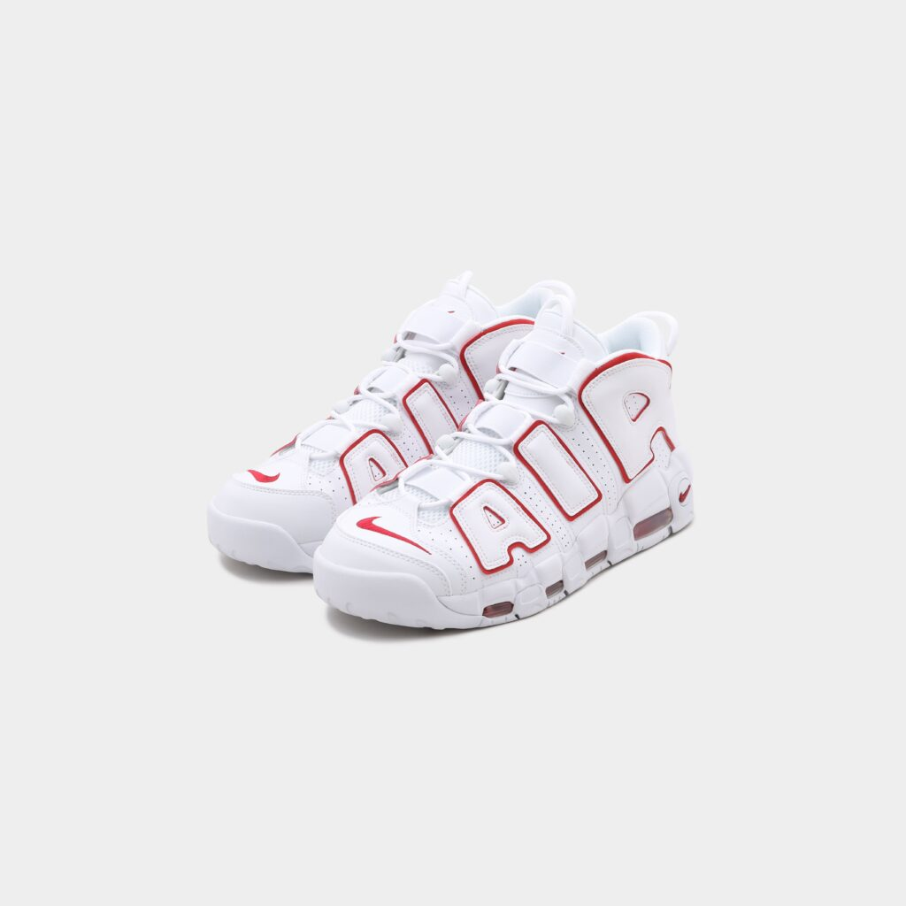 """NIKE AIR MORE UPTEMPO """"WHITE AND VARSITY RED"""""""