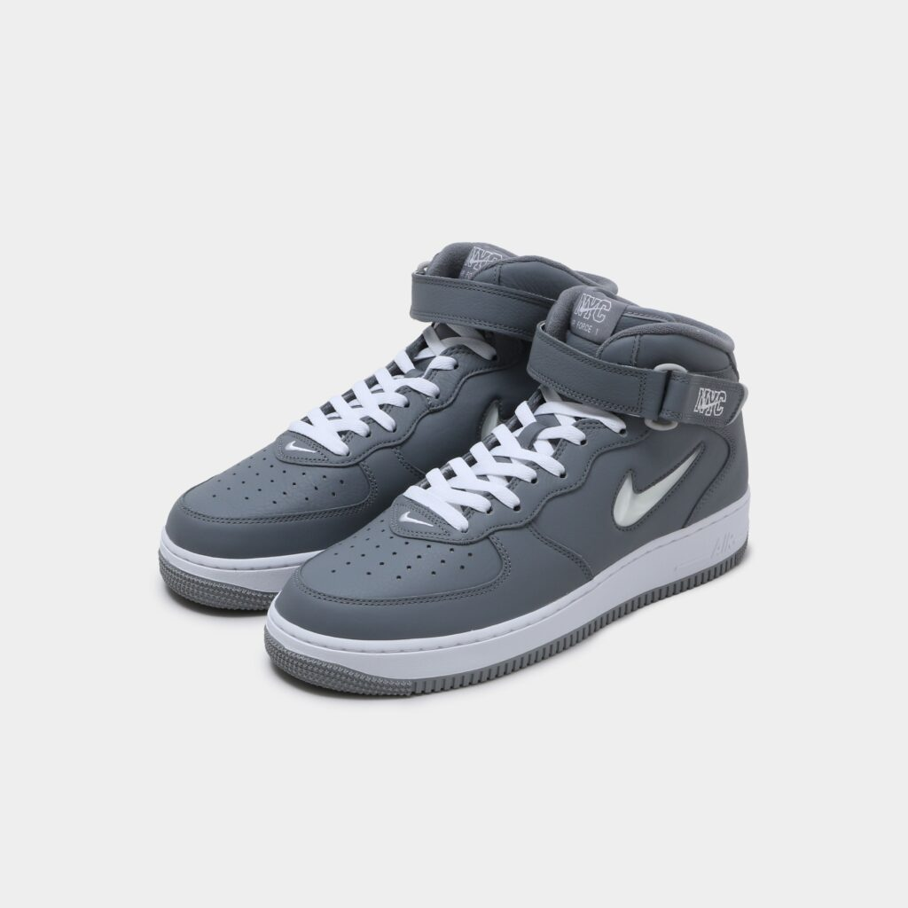"""NIKE AIR FORCE 1 MID '07 QS """"NYC COOL GREY"""""""